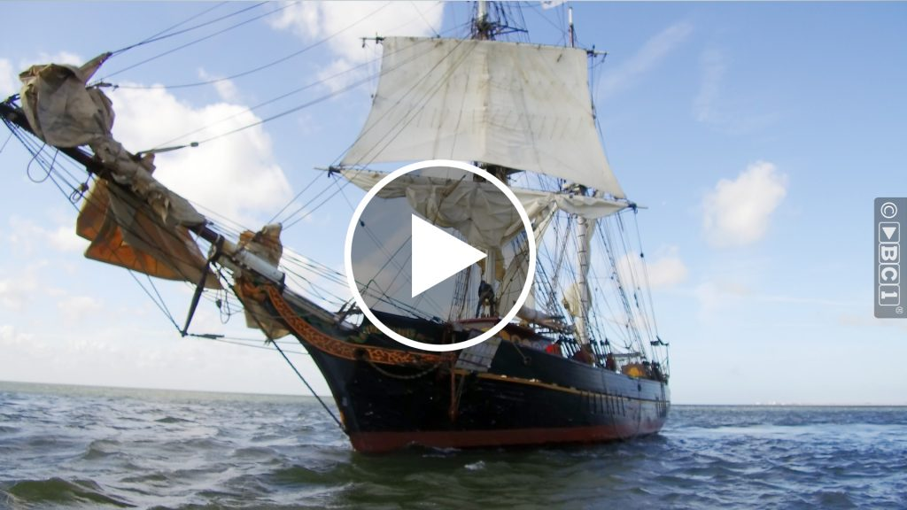 De Tres Hombres een van de schepen van de Fair Transport Foundation